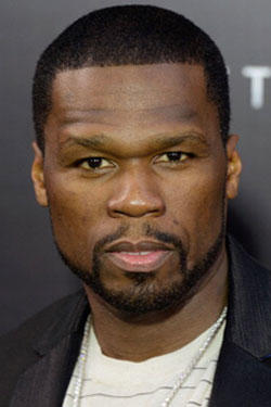 Rapper 50 Cent at the premiere of