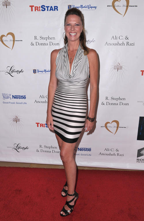 Mo Collins at the red carpet of 11th Annual Golden Heart Awards in California.