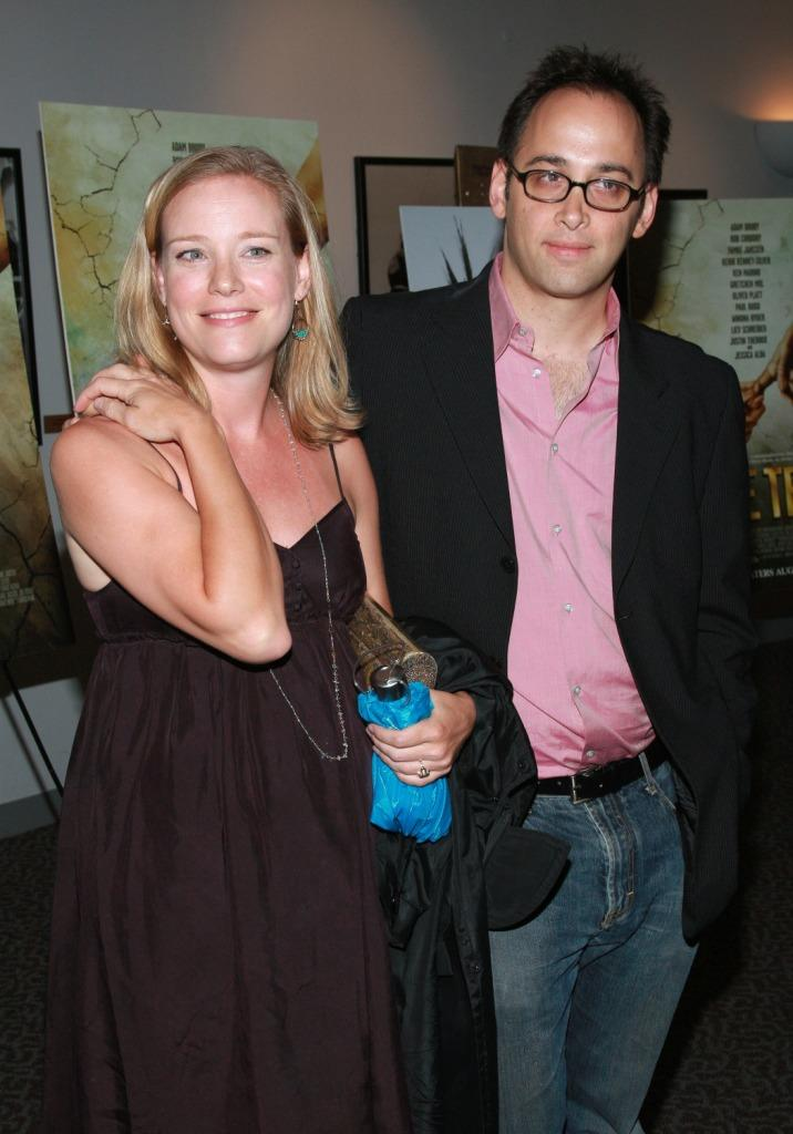 Zandy Hartig and David Wain at the after party of the premiere of