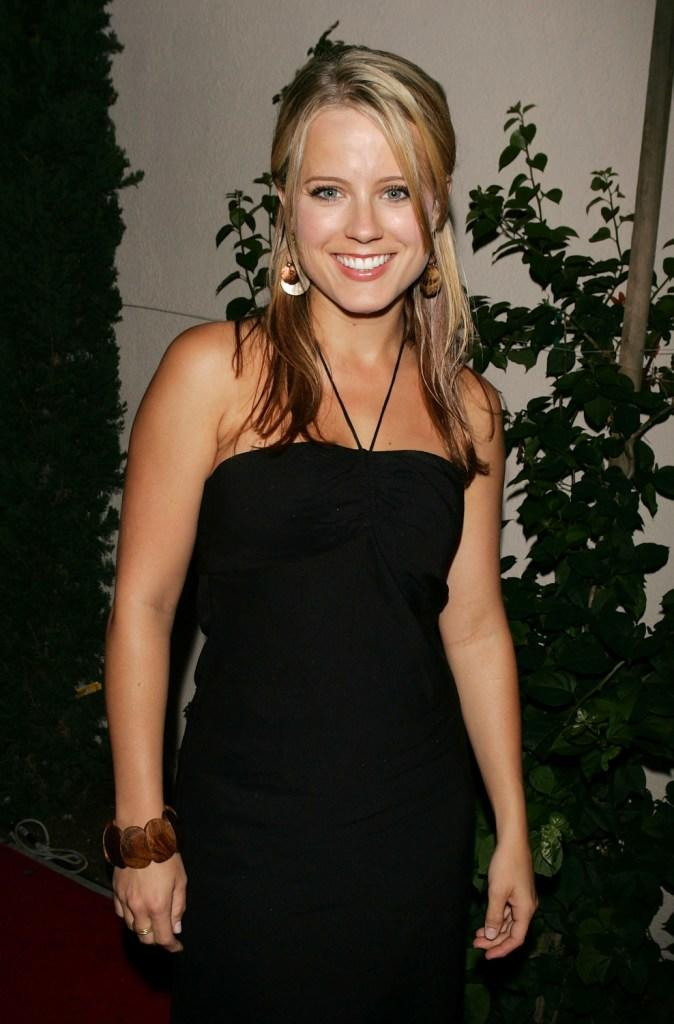 Allison Munn at the WB Network stars party.