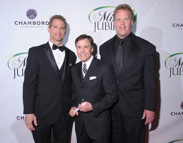 Matt Battaglia, Bob Costas and Chris Thieneman at the Mint Jubilee in Kentucky.