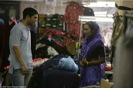 Christopher Simpson as Karim and Tannishtha Chatterjee as Nazneen in