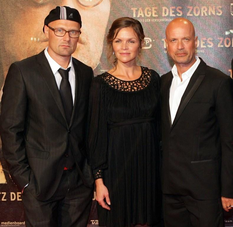 Ole Christian Madsen, Stine Stengade and Christian Berkel at the German premiere of