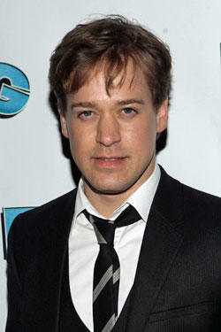 TR Knight attends the Broadway opening night of 'Elling' at the Ethel Barrymore Theatre.