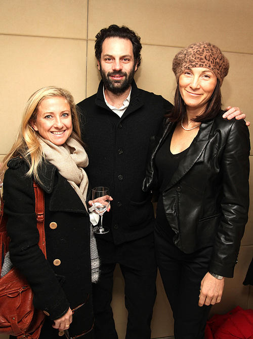 Caroline Sherman, Emile Sherman and Eve Best at the screening of