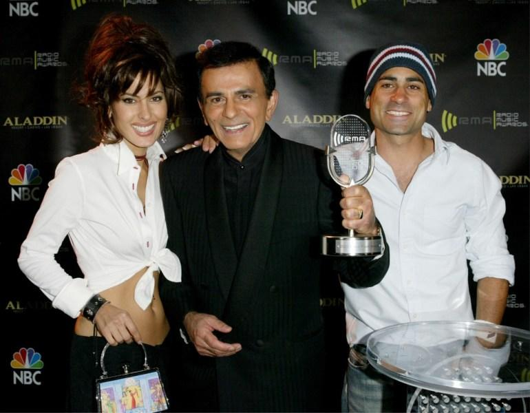 Kerri Casem, Casey Kasem and Mike Casem at the 2003 Radio Music Awards.