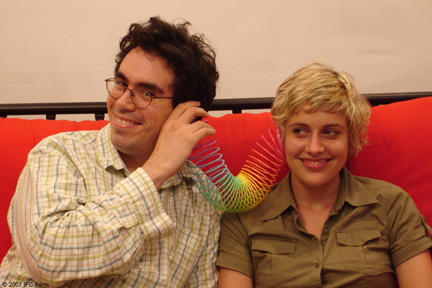 Andrew Bujalski as Paul and Greta Gerwig as Hannah in