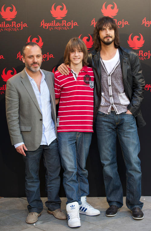 Javier Gutierrez, Guillermo Campra and David Janer at the photocall of