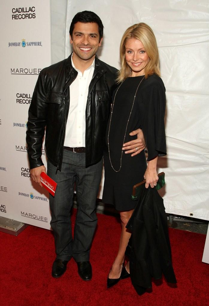 Mark Consuelos and Kelly Ripa at the premiere of