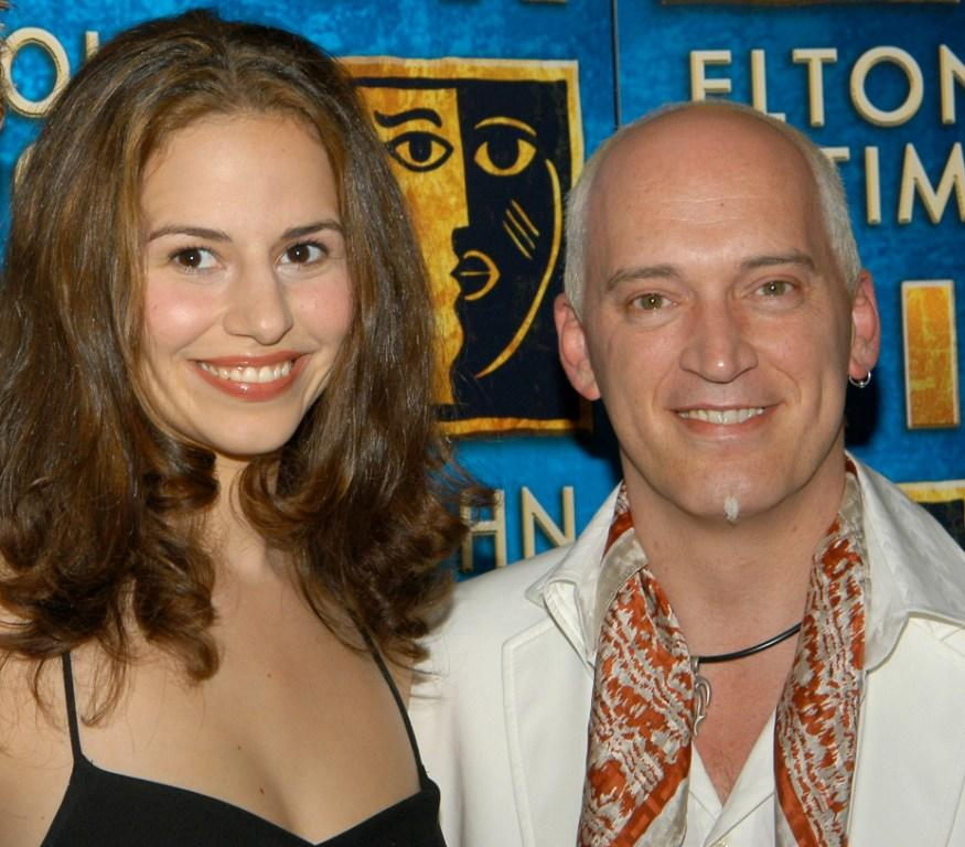 Mandy Gonzalez and Donnie Kehr at the after party for recording artist Toni Braxton's debut in the Broadway musical Aida.