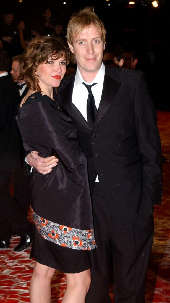 Richard Schiff and Sheila Kelley at the opening night of