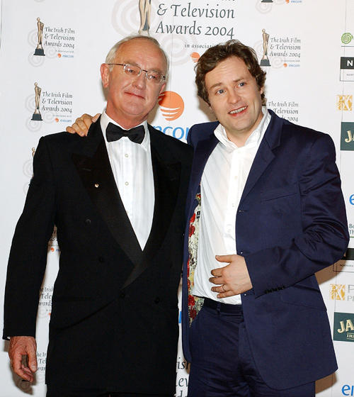 Frank Kelly and Ardal O'Hanlon at the Irish Film and Televison Awards.