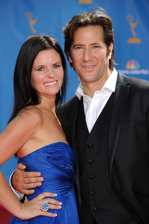 Annie Wood and Henry Ian Cusick at the 62nd Annual Primetime Emmy Awards.