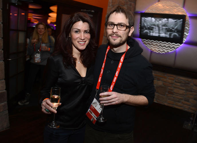 Magali Simard and Don Hertzfeldt at the Shorts Program Awards and party Presented By Youtube.