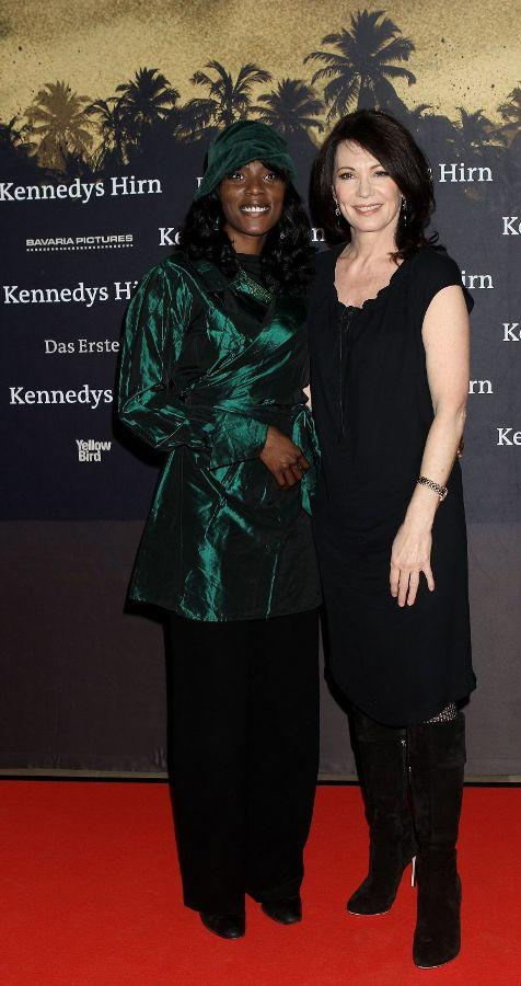 Mata Gabin and Iris Berben at the German premiere of
