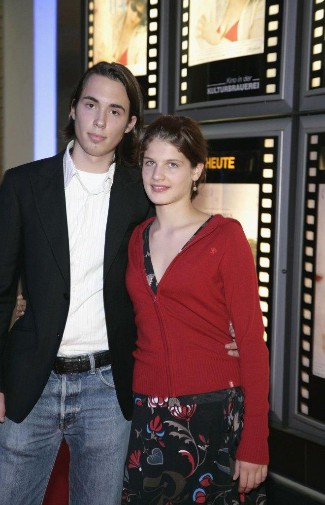 Lucas Kotaranin and Svea Lohde at the premiere of