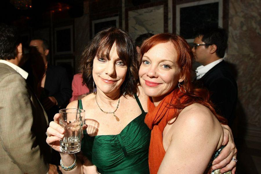 Director Bette Gordon and Mariann Mayberry at the after party of the screening of