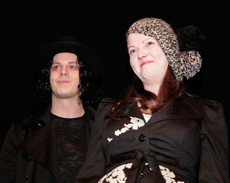 Jack White and Meg White at the screening of
