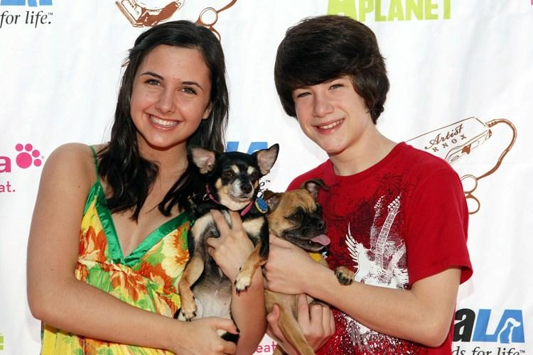 Hailey Anne Nelson and Dylan Minnette at the grand opening party for the Artist Knox Luxury Grooming Pet Salon.