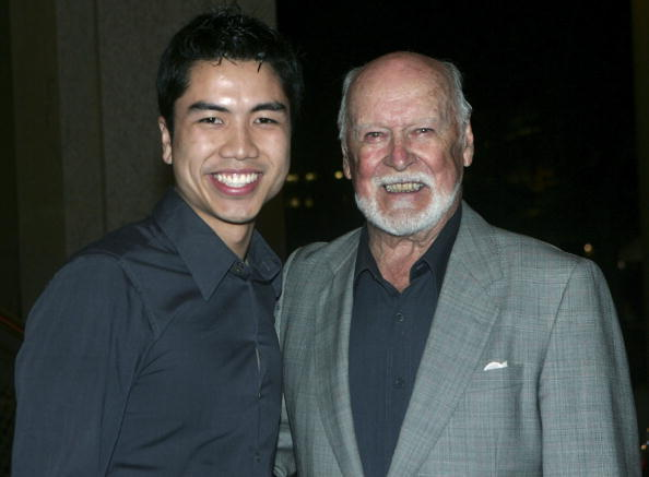 Khoa Do and Bill Kerr at the premiere of
