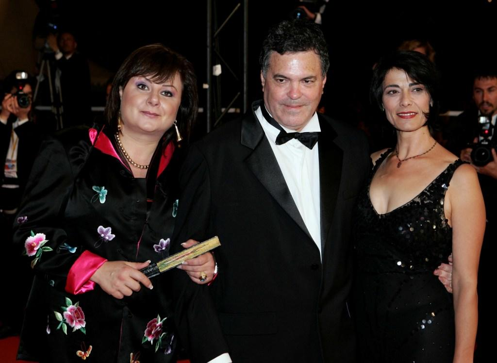 Hanna Laslo, Director Amos Gitai and Hiam Abbass at the screening of