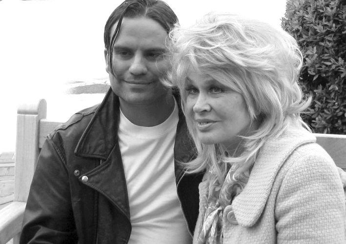 Jeff Dylan Graham and Karen Black on the set of