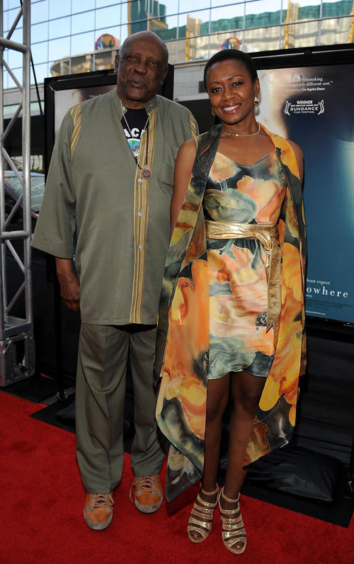 Louis Gossett Jr. and Barbara Eve Harris at the premiere of