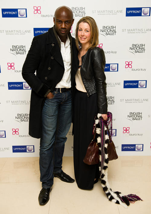 David Gyasi and Guest at the English National Ballet pre-performance party in London.