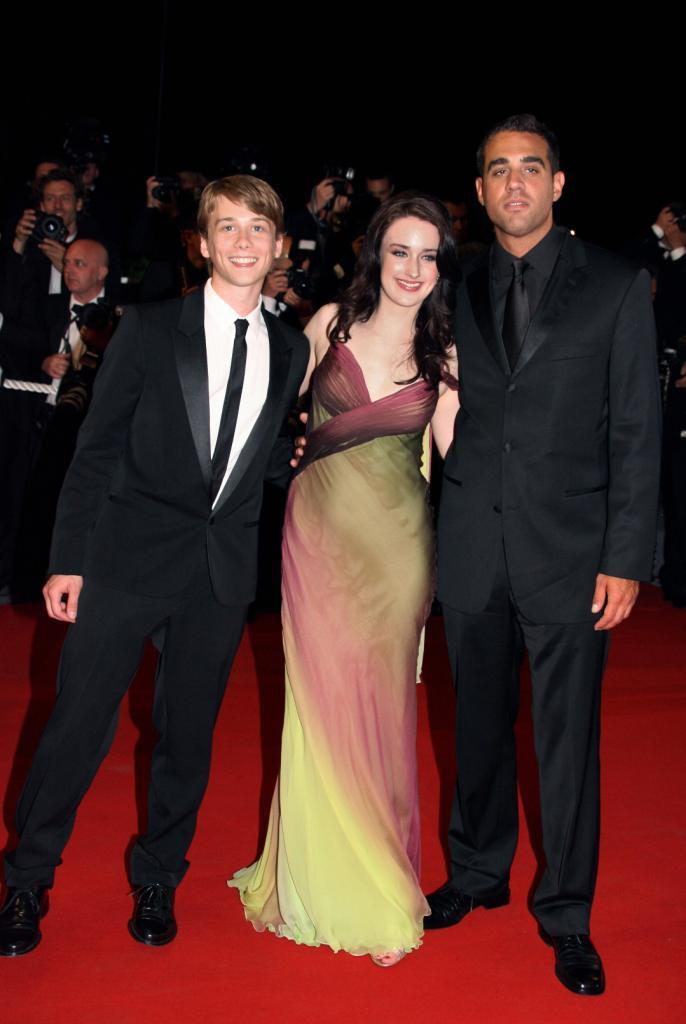 Glen Powell Jr., Ashley Johnson and Bobby Cannavale at the Cannes Film Festival.