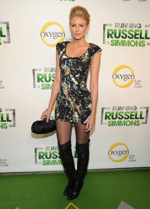 Paige Butcher at the series premiere party for