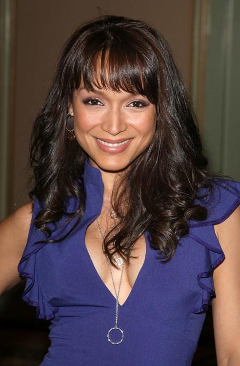 Mayte Garcia at the NBC Universal's all-star press tour party.