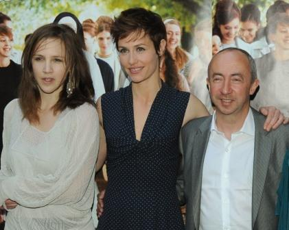 Marie Kremer, Cecile de France and director Stijn Coninx at the Paris premiere of