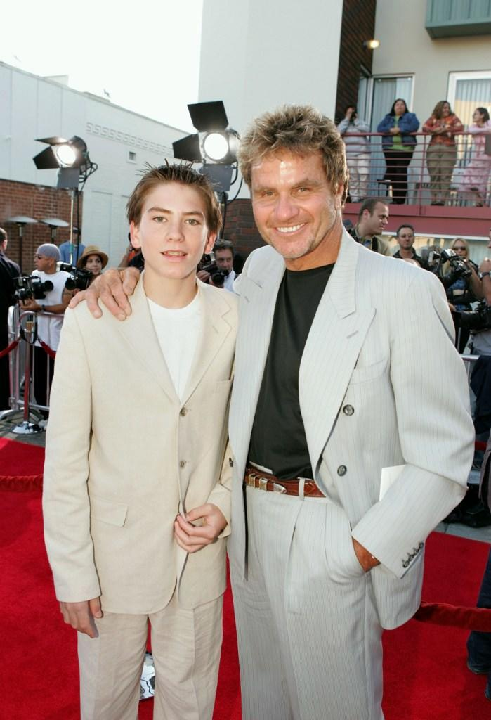 Jesse Kove and Martin Kove at the premiere of