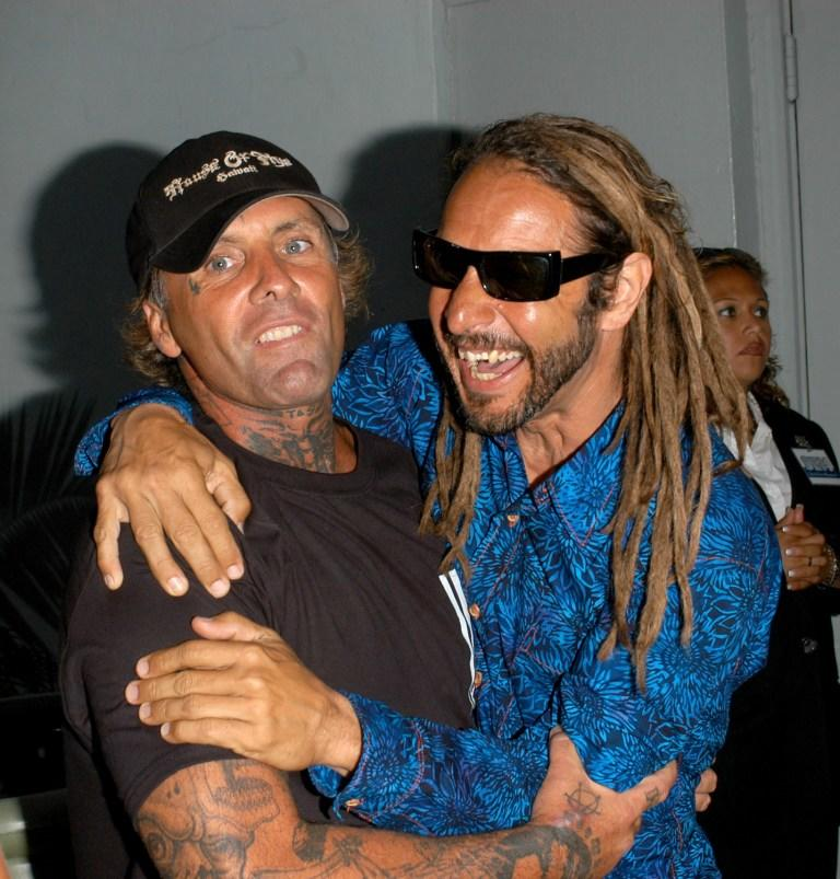 Jay Adams and Tony Alva at the premiere of