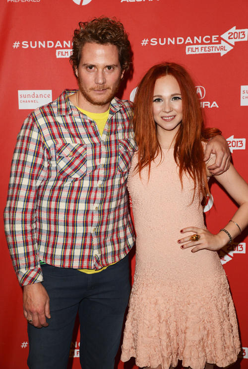 Brian Gattas and Juno Temple at the premiere of