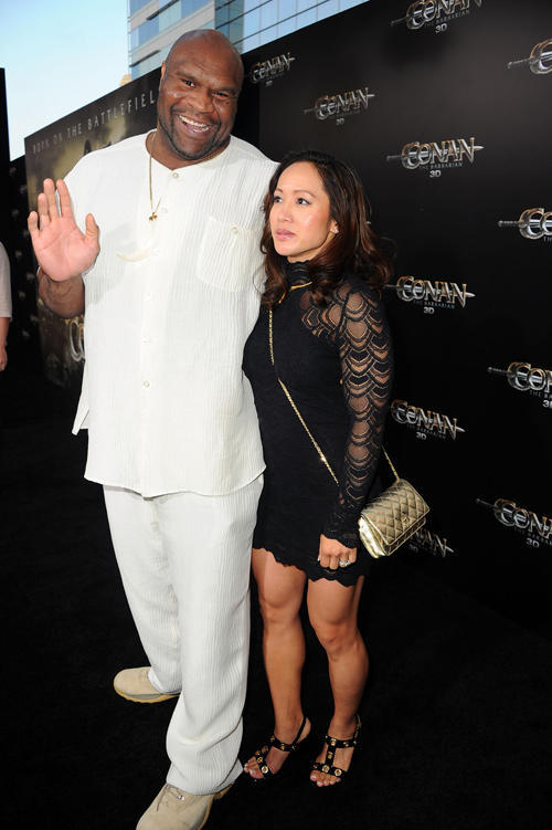 Bob Sapp and Guest at the California premiere of