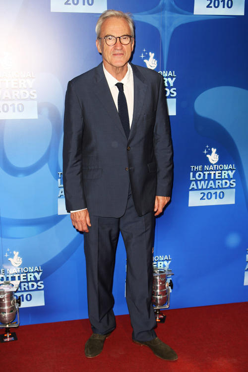 Larry Lamb at the National Lottery Awards 2010 in England.