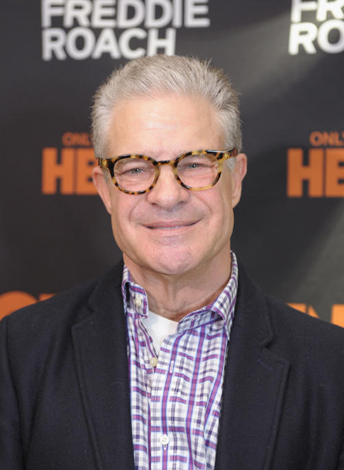 Jim Lampley at the New York premiere of
