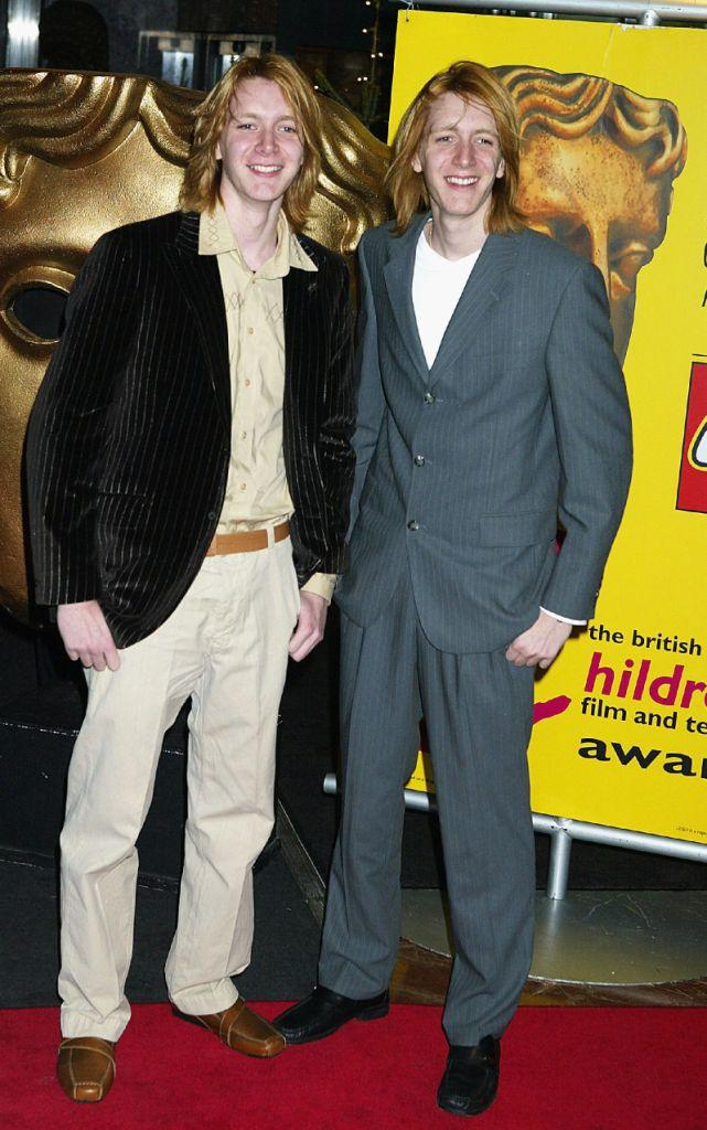 James Phelps and Oliver Phelps at the British Academy Children's Film and Television Awards.