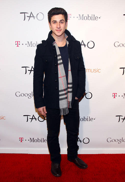 David Henrie at the T-Mobile presents Google Music at TAO during the Sundance Film Festival in Utah.
