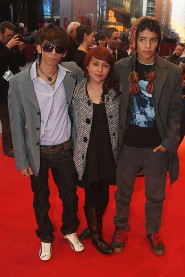 Juan Carlos Lara, Daniela Valentine and Diego Catano at the premiere of