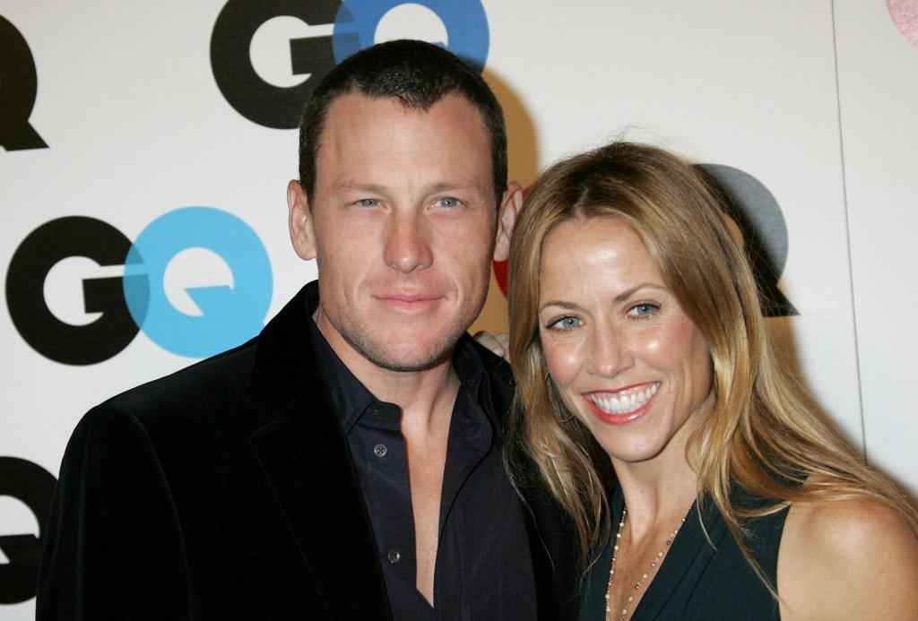 Lance Armstrong and Sheryl Crow at the GQ magazine's 2005