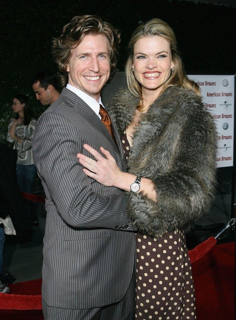 Josh Meyers and Missi Pyle at the premiere of