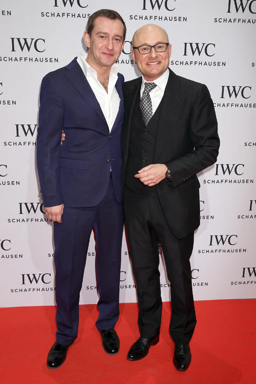 Konstantin Khabensky and Georges Kern at the IWC Race Night during the Salon International de la Haute Horlogerie in Switzerland.