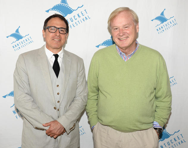 David O Russell and Chris Matthews at the18th Annual Nantucket Film Festival.