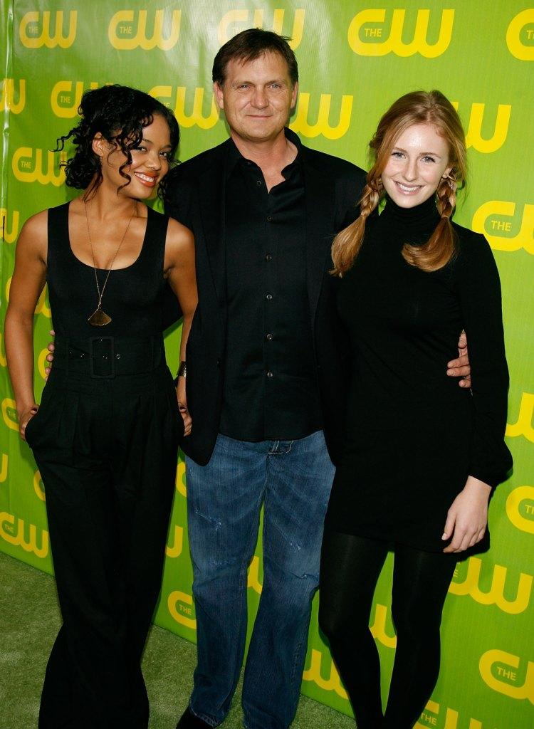 Tessa Thompson, Kevin Williamson and Ellary Porterfield at the CW 2007 Winter TCA party.