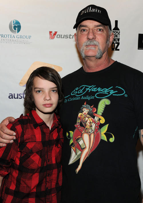 Kodi Smit-McPhee and Andy McPhee at the California screening of