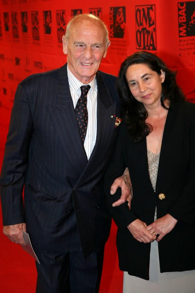 Philippe Leroy and Silvia Tortora at the 70 years of Cinecitta Studios Party.