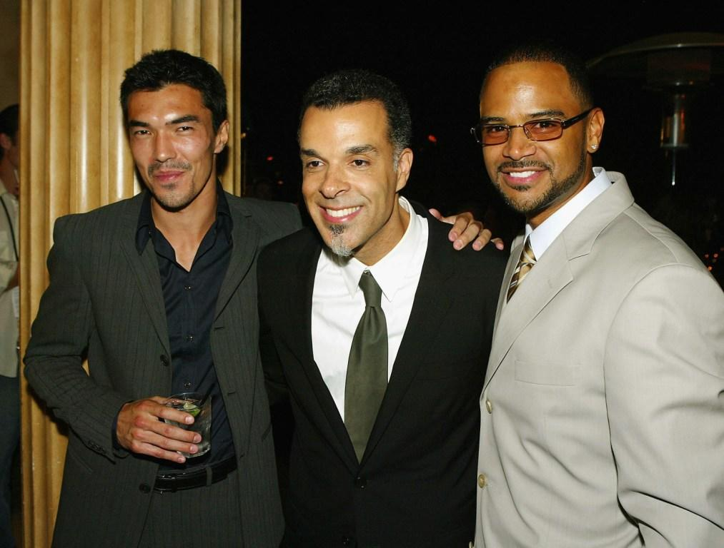 Ian Anthony Dale, Director Charles Stone III and Dondre Whitfield at the after party of the premiere of