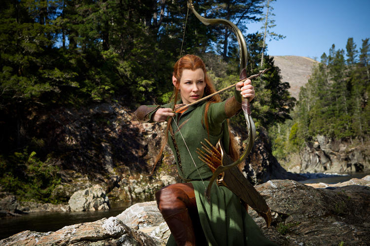 Evangeline Lilly as Tauriel in